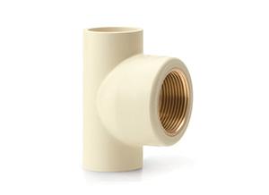 Female Threaded Tee (Brass Insert)